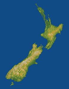 New Zealand topographic image