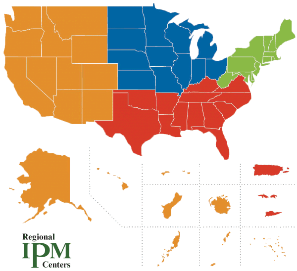 Map of regional IPM centers
