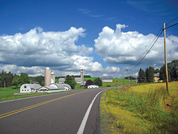 Rural road in Preston Township, Pa.